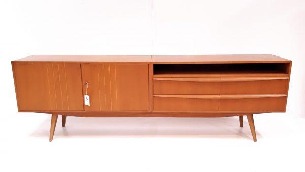 Elegantes Sideboard aus den 50er Jahren, gefertigt von Schreiber, Hamburger Werkstätten 1957